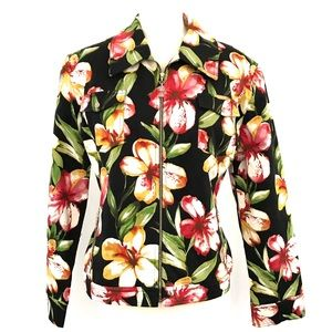 St. John Sport by Marie Gray Floral Zip Up Jacket